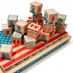children's Blocks with information about all 44 presidents