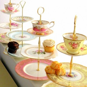 high tea 3 tier tea and cupcake set
