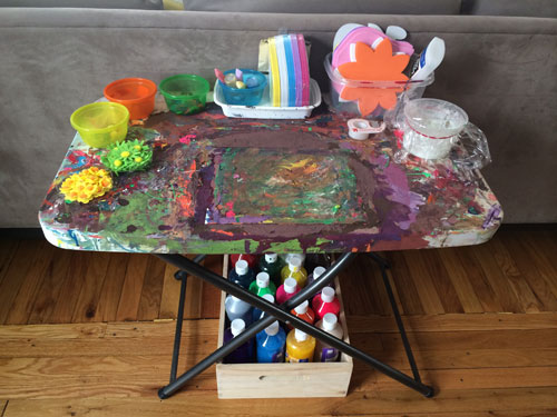 The Spring art table.